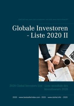 Globale Investoren – Liste 2020 II von Duthel,  Heinz