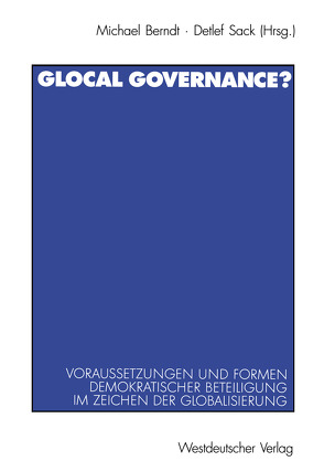 Glocal Governance? von Berndt,  Michael, Sack,  Detlef