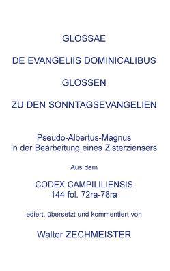 Glossae de Evangeliis Dominicalibus von Zechmeister,  Walter