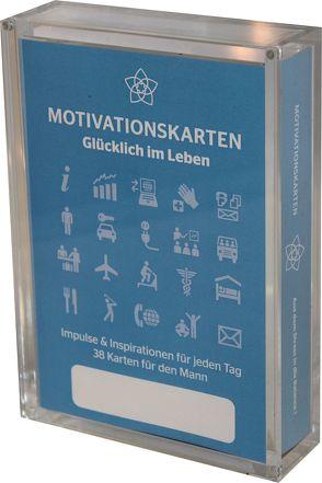 Glücklich im Leben – Motivationskartenset für Männer als positive Impulsgeber zur Selbstfindung und Inspiration von Bruckner,  Gerd, Homolac,  Marlis