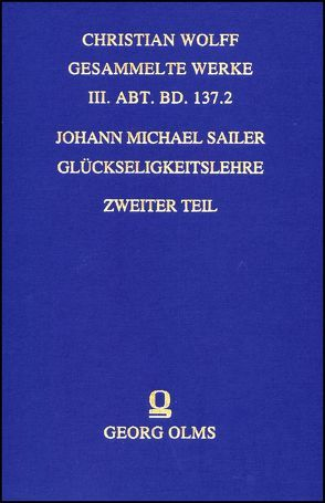 Glückseligkeitslehre von Sailer,  Johann Michael