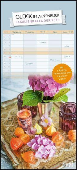 Glück im Augenblick Familienkalender 2019 – Wandkalender – Familienplaner mit 5 Spalten – Format 22 x 49 cm von DUMONT Kalenderverlag, Nicole,  Franke
