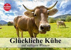 Glückliche Kühe auf saftigen Wiesen (Wandkalender 2019 DIN A3 quer) von Stanzer,  Elisabeth