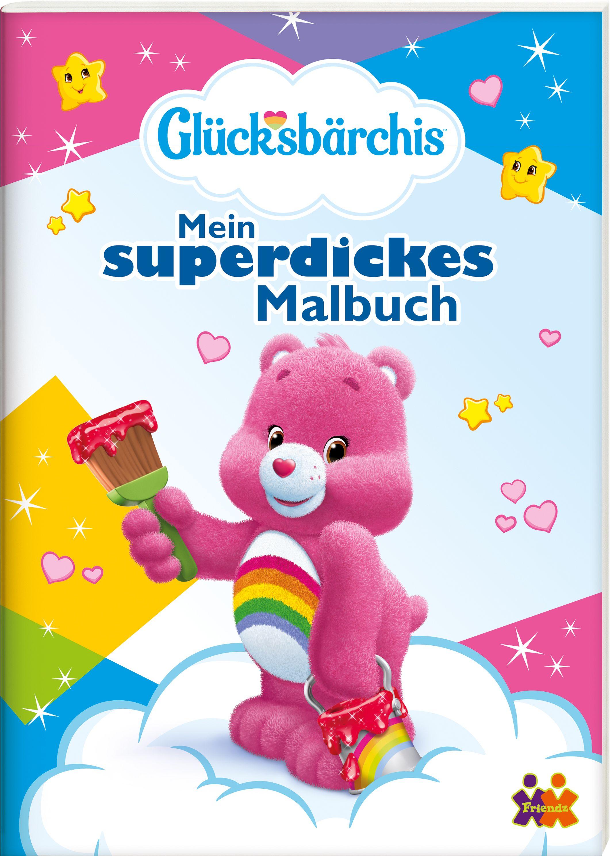Glücksbärchis. Mein superdickes Malbuch. von :