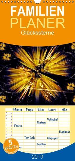 Glückssterne – Familienplaner hoch (Wandkalender 2019 <strong>21 cm x 45 cm</strong> hoch) von Art-Motiva