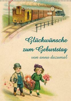 Glückwünsche zum Geburtstag (Wandkalender 2018 DIN A2 hoch) von - Martina Berg + Antje Lindert-Rottke,  Pferdografen