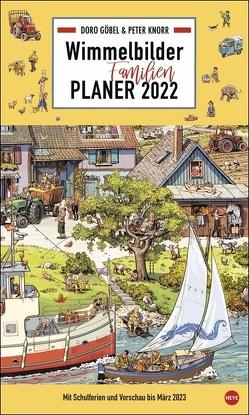 Göbel & Knorr Wimmelbilder Familienplaner XL Kalender 2022 von Heye