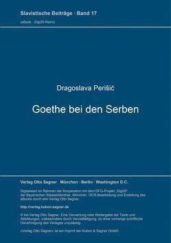 Goethe bei den Serben von Perišic,  Dragoslava