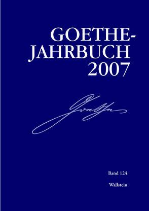 Goethe-Jahrbuch von Frick,  Werner, Golz,  Jochen, Zehm,  Edith