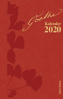 Goethe Kalender 2020 von John,  Waltraud