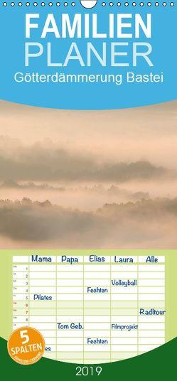 Götterdämmerung Bastei – Familienplaner hoch (Wandkalender 2019 , 21 cm x 45 cm, hoch) von Herzog,  Thomas, www.bild-erzaehler.com