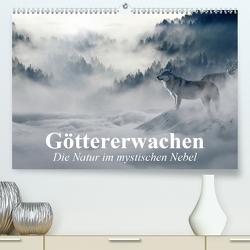 Göttererwachen. Die Natur im mystischen Nebel (Premium, hochwertiger DIN A2 Wandkalender 2021, Kunstdruck in Hochglanz) von Stanzer,  Elisabeth