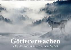 Göttererwachen. Die Natur im mystischen Nebel (Wandkalender 2021 DIN A2 quer) von Stanzer,  Elisabeth