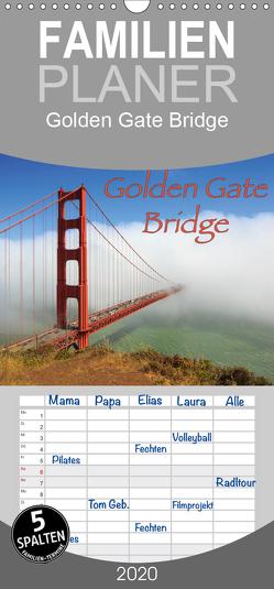 Golden Gate Bridge – Familienplaner hoch (Wandkalender 2020 , 21 cm x 45 cm, hoch) von Wigger,  Dominik