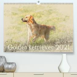 Golden Retriever 2021 (Premium, hochwertiger DIN A2 Wandkalender 2021, Kunstdruck in Hochglanz) von Redecker,  Andrea