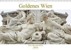 Golden Wien fotografiert von Andreas Riedmiller (Wandkalender 2019 DIN A3 quer)