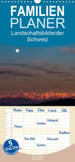 Goldene Stunde – Landschaftsbilder der Schweiz – Familienplaner hoch (Wandkalender 2020 , 21 cm x 45 cm, hoch) von Wahli,  Thomas