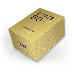Goldene Zitate-Box von Scherer,  Hermann