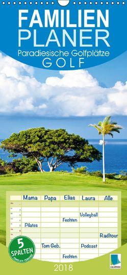 Golf: Paradiesische Golfplätze (Wandkalender 2018 PRO_49_format hoch) von CALVENDO,  k.A.
