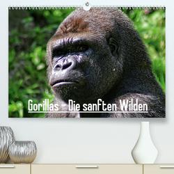Gorillas – Die sanften Wilden (Premium, hochwertiger DIN A2 Wandkalender 2021, Kunstdruck in Hochglanz) von Hebgen,  Peter