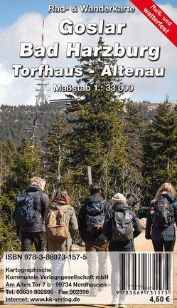 Goslar – Bad Harzburg – Tordhaus – Altenau von KKV Kartographische Kommunale Verlagsgesellschaft mbH