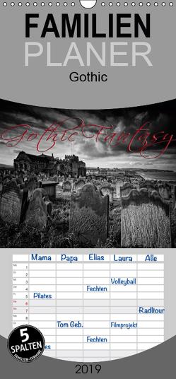 Gothic Fantasy – Familienplaner hoch (Wandkalender 2019 , 21 cm x 45 cm, hoch) von Cross,  Martina