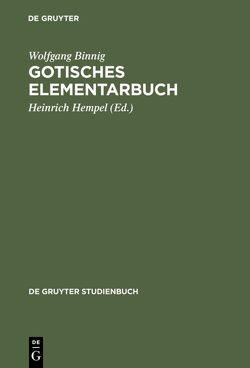 Gotisches Elementarbuch von Binnig,  Wolfgang, Hempel,  Heinrich