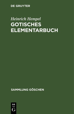 Gotisches Elementarbuch von Hempel,  Heinrich