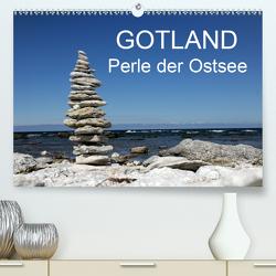 Gotland – Perle der Ostsee (Premium, hochwertiger DIN A2 Wandkalender 2021, Kunstdruck in Hochglanz) von Harhaus,  Helmut
