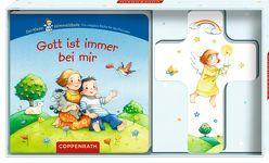 Gott ist immer bei mir (Geschenkset: Holzkreuz mit Pappbilderbuch) von Hundshagen,  Sinja, Wissmann,  Maria