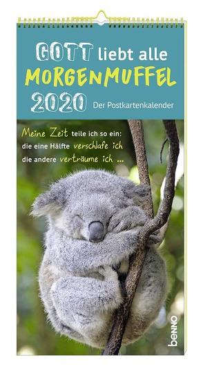 Gott liebt alle Morgenmuffel 2020 – Der Postkartenkalender von Kreichgauer,  Dominique, Michels,  Claudia