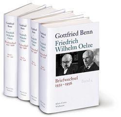 Briefwechsel 1932-1956 von Benn,  Gottfried, Hof,  Holger, Kraft,  Stephan, Oelze,  Friedrich Wilhelm, Steinhagen,  Harald