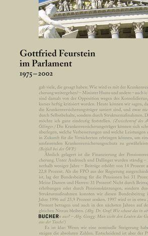 Gottfried Feurstein im Parlament von Feurstein,  Gottfried