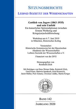 Gottlieb von Jagow (1863-1935) und sein Umfeld von Zilch,  Reinhold