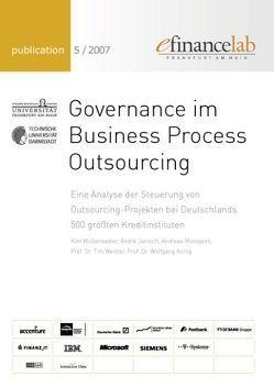 Governance im Business Process Outsourcing von Janisch,  André, König,  Wolfgang, Monsport,  Andreas, Weitzel,  Tim, Wüllenweber,  Kim