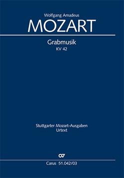 Grabmusik (Klavierauszug) von Mozart,  Wolfgang Amadeus