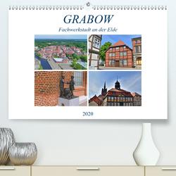 Grabow – Fachwerkstadt an der Elde (Premium, hochwertiger DIN A2 Wandkalender 2020, Kunstdruck in Hochglanz) von Rein,  Markus