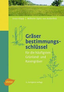 Gräserbestimmungsschlüssel von Klapp,  Ernst, Opitz v. Boberfeld,  Wilhelm