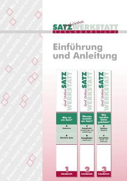 Graf Orthos Satzwerkstatt Sekundarstufe von Schmidt,  Silke, Sommer-Stumpenhorst,  Norbert, Zimmer,  Marianne
