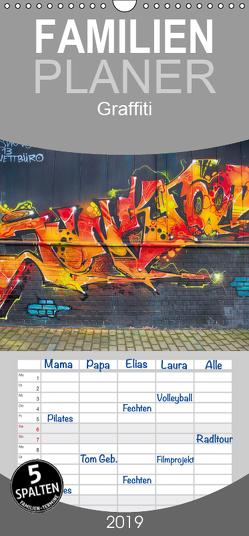 Graffiti – Familienplaner hoch (Wandkalender 2019 , 21 cm x 45 cm, hoch) von Meutzner,  Dirk