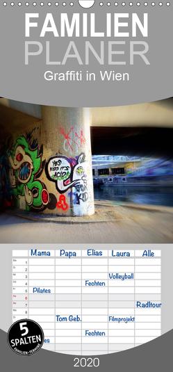 Graffiti in Wien – Familienplaner hoch (Wandkalender 2020 , 21 cm x 45 cm, hoch) von Peter & Alessandra Seitz,  Werk2