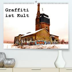Graffiti ist Kult (Premium, hochwertiger DIN A2 Wandkalender 2021, Kunstdruck in Hochglanz) von Kauss www.kult-fotos.de,  Kornelia