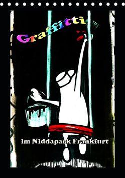 Graffitti im Niddapark Frankfurt (Tischkalender 2020 DIN A5 hoch) von Frank,  Rolf