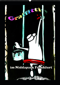 Graffitti im Niddapark Frankfurt (Wandkalender 2020 DIN A2 hoch) von Frank,  Rolf