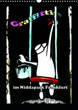 Graffitti im Niddapark Frankfurt (Wandkalender 2020 DIN A3 hoch) von Frank,  Rolf