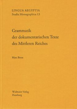 Grammatik der dokumentarischen Texte des Mittleren Reiches von Brose,  Marc