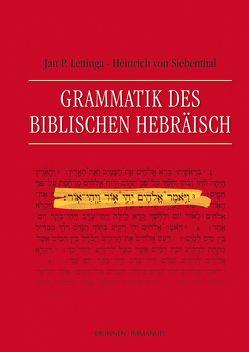 Grammatik des Biblischen Hebräisch von Lettinga,  Jan P., Siebenthal,  Heinrich von