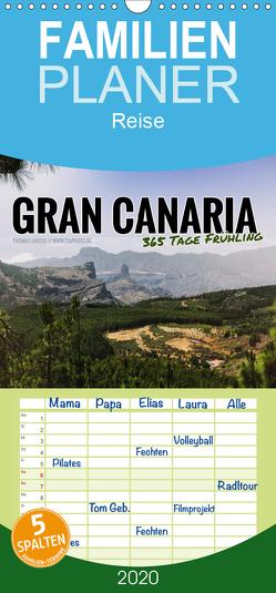 Gran Canaria – 365 Tage Frühling – Familienplaner hoch (Wandkalender 2020 , 21 cm x 45 cm, hoch) von Jansen - tjaphoto.de,  Thomas