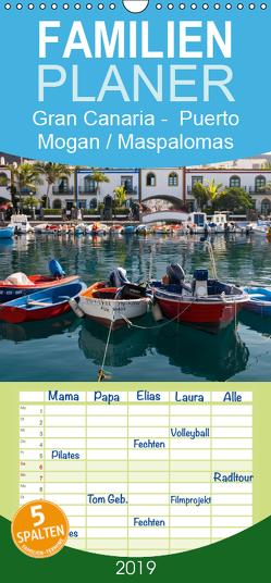 Gran Canaria – Puerto Mogan/Maspalomas – Familienplaner hoch (Wandkalender 2019 , 21 cm x 45 cm, hoch) von Bücker,  Michael
