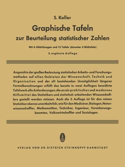 Graphische Tafeln zur Beurteilung statistischer Zahlen von Koller,  Siegfried
